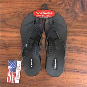Okabashi Flip Flops, Brand New with Tags, Size M